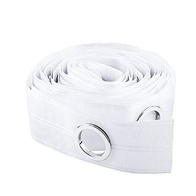 Material de polipropileno: la cinta de cortina está hecha de material de polipropileno, recto y suave, resistente al desgaste, alta densidad, protección del medio ambiente. Fácil de usar: la cinta de cortina se puede ajustar o conectar otras cintas d...