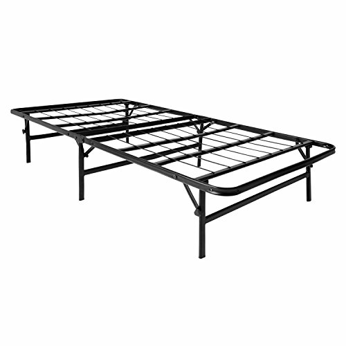 LUCID Foldable Metal Platform Bed Frame and Mattress Foundation -Strong and Sturdy Support -...