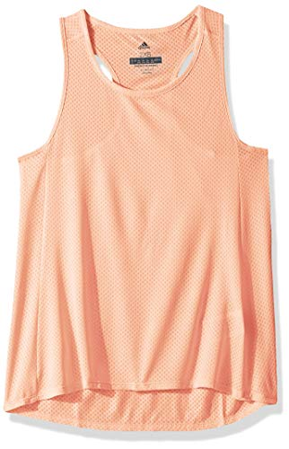 adidas Camiseta sin Mangas para Mujer, Color Naranja Transpa
