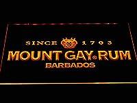 Mount Gay Rum LED看板 ネオンサイン ライト 電飾 広告用標識 W60cm x H40cm イエロー
