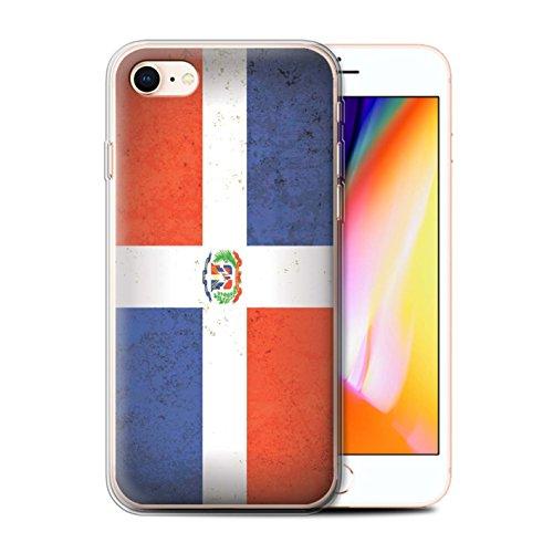 Telefoonhoesje voor Apple iPhone SE 2020 Americas Vlag Dominicaanse Republiek Ontwerp Transparant Heldere Ultra Zachte Flexi Siliconen Gel/TPU Bumper Cover