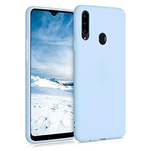 kwmobile Hülle kompatibel mit Samsung Galaxy A20s - Hülle Handyhülle - Handy Hülle in Hellblau matt