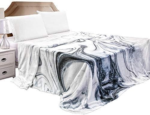 Mizzeo Flannel Fleece Blanket Queen Size 84 x 90 Swirling Marble Lightweight Soft Blanket All product image