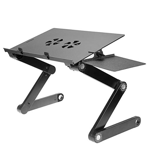 iCraze Laptop Desk Stand - Adjustable Laptop Holder Cooling Pad -...