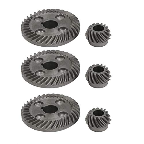 uxcell 90 Degree Shaft Angle Replacement Part Spiral Bevel Helical Gear Set 3pcs