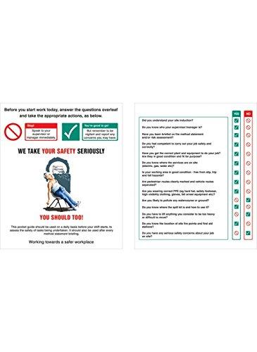 Caledonia Zeichen 58055Webseite Sicherheit Induktion Pocket Guide, 75mm x 90mm (10Stück)