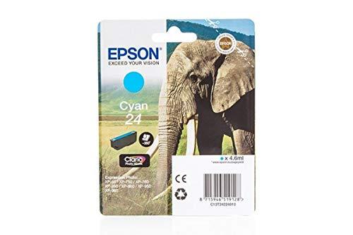Epson original - Epson Expression Photo XP-760 (24 / C 13 T 24224010) - Tintenpatrone cyan - 360 Seiten - 4,6ml