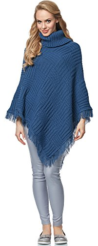 Merry Style Poncho para Mujer MSSE0038 (Jeans, S/M)