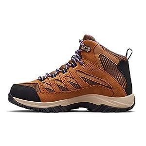 Columbia Women's Crestwood MID Waterproof Hiking Shoe, Dark Truffle, Plum Purple, 10 Regular US