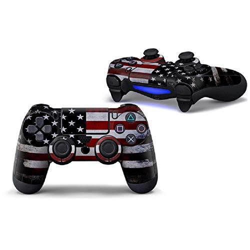 PS4コントローラースキン ビニールステッカー デカール カバー プレイステーション用 デュアルショック 4コントローラー用 アメリカの国旗 2枚