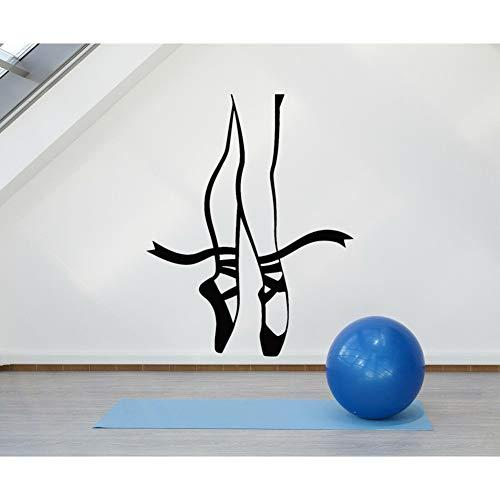 YCEOT 42X53 cm Kinderen Vinyl Muursticker Ballet Punten Ballerina Dans Pose Benen Muurstickers voor Meisjes Kamer Moderne Muurdecoratie