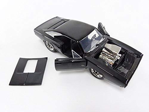 Jada- Coche 1970 Dodge Charger R7T 1970/1:24, Color Negro (30737)