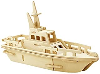 3D Wooden Puzzle Yacht Model Building Kit Puzzle Toy 3d Puzzles 34-pcs