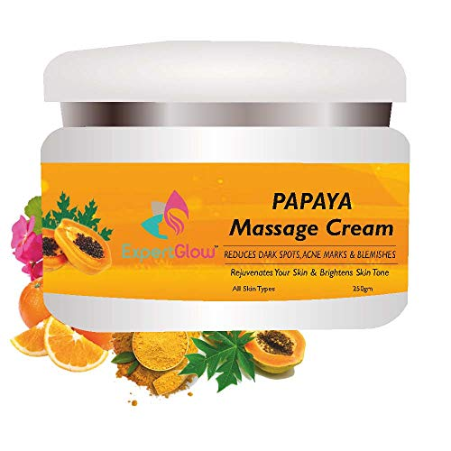 ExpertGlow Papaya Face Massage Cream for Skin Whitening, Tanning And Pigmentation Control Anti-Marks & Spots Removal |250 gm Papaya Facial Massage Cream For All Type Skin.