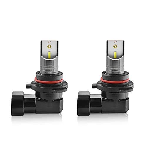 Bombillas LED Faro Kit de conversión 9005/9006/9012, de alto brillo de la viruta 55W 6000K 30000LM All-In-One Plug & PLAYCAR faros (Color : 9006)