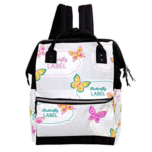 Schmetterling 038 Rucksack Große Kapazität Mehrfach Umhängetasche Laptop Bookbag Reiserucksack Dual Use Handtasche Schultasche Für Mann Frauen Kinder 27x19.8x36.5cm