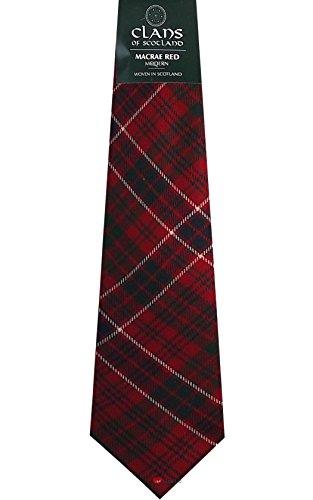 I Luv LTD MacRae Red Clan 100% Wool Scottish Tartan Tie