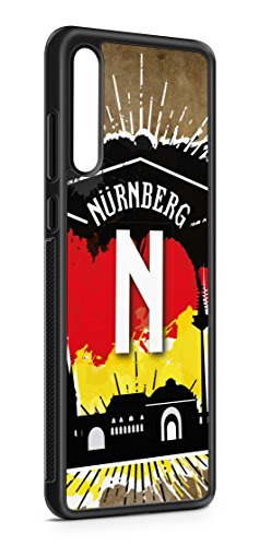 aina Kompatibel mit Samsung Galaxy A51 Silikon Hülle Handyhülle Flexibles Slim Case Cover Nürnberg Motiv Bild Schwarz