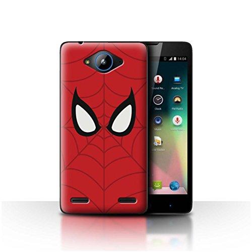 Hülle Für ZTE Blade L3 Plus Superheld Comic-Kunst Spider-Man Maske Inspiriert Design Transparent Ultra Dünn Klar Hart Schutz Handyhülle Hülle
