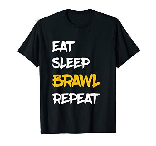 Eat Sleep Brawl Repeat Gamer Zocker Game Kinder Star T-Shirt