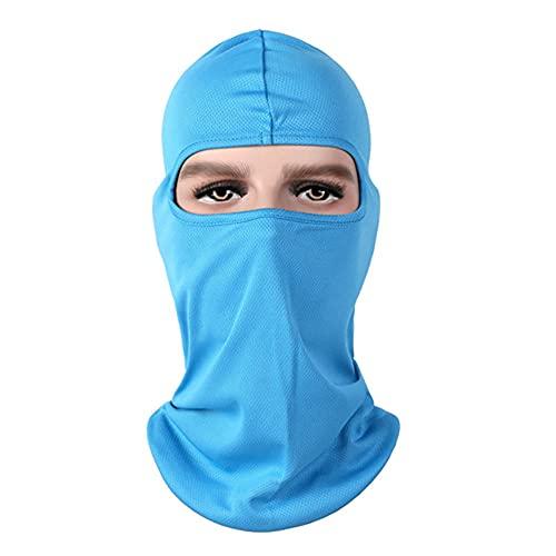 Damaifirstes Headgear - Máscara de ciclismo para hombre, protector solar, capucha delgada para motocicleta, cortavientos y frío, forro de casco a prueba de polvo, 2 unidades, azul cielo, C_23 x 40 cm