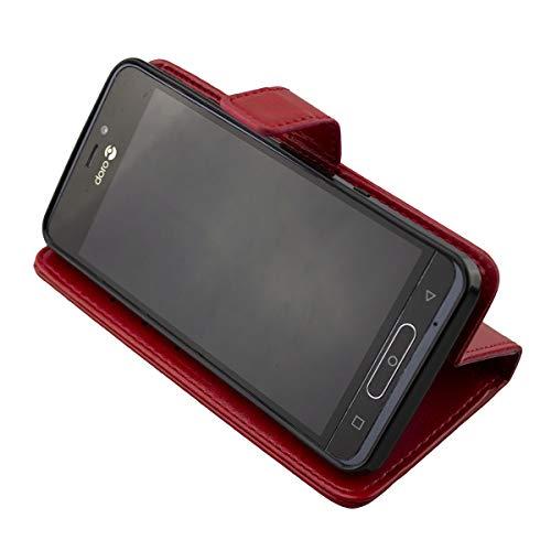 caseroxx Bookstyle-Case für Doro 8035 (mit & ohne Bildschirmschutzfolie) … (Bookstyle-Case, rot)