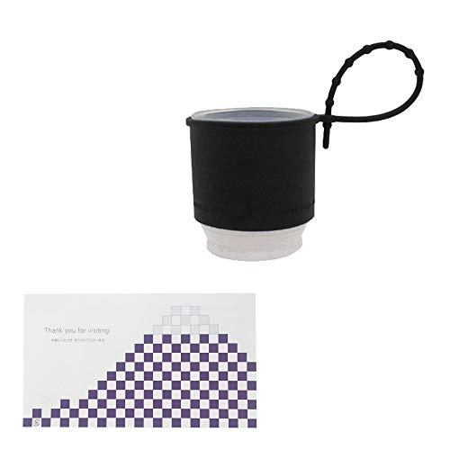 takenoco mini(BLACK・折り畳み傘)&おもてな紙セット 折り畳み傘カバー 折り畳み傘用 雨傘カバー レインカバー 便利 画期的 アイデア商品