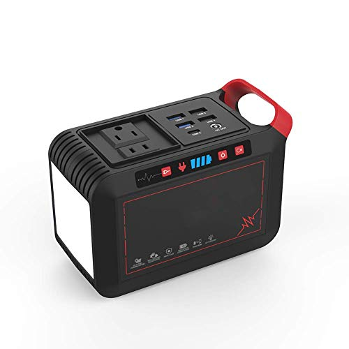 Z&LEI Central eléctrica portátil, Fuente de alimentación de Campamento 120W 110V 220V Micro generador de batería Solar de Litio Solar