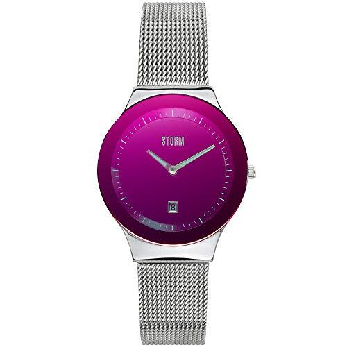 STORM London Mini Sotec Lazer Purple, Damenuhr, Edelstahlgehäuse, Mineralglas, 3 bar Wasserdicht, Datumsfunktion, 47383/LP