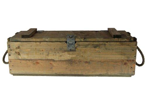 Bundeswehr Munitionkiste Holzkiste neuwertig, oliv, 76×23,5x26cm - 4