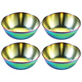 YARNOW 4Pcs in Acciaio Inox Sushi Ciotole Rotonda Piattini Piatti Mini Ketchup Dip Bowl Ch...