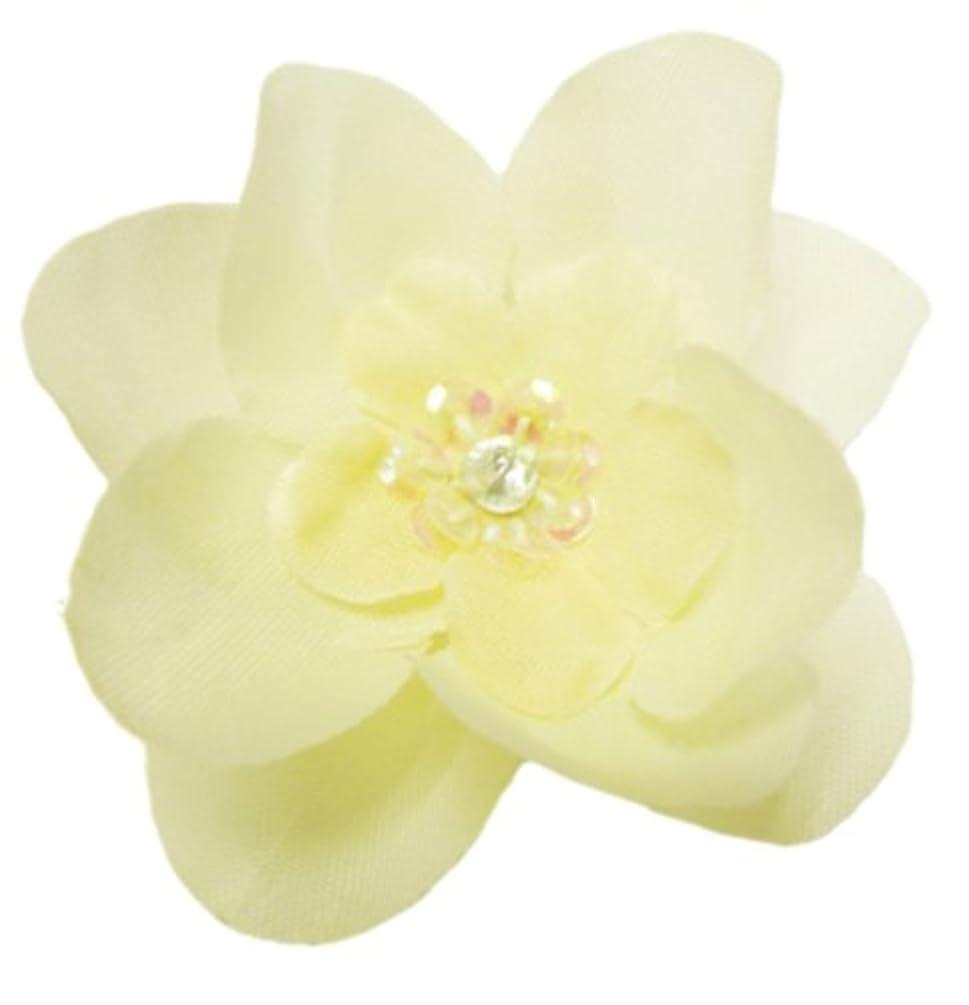 Cuteque International 6-Piece Embellished Flower Sequin Embellishment, Antique White
