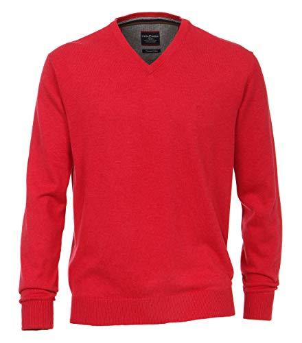 CASAMODA Herren Pullover Uni sattes Rot L