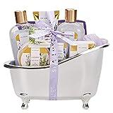 Bad Geschenkset für Sie, SPA LUXETIQUE Beauty Set 8-teiliges Bade- und Dusch Set Lavendel...