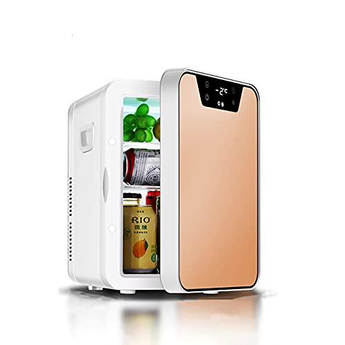 HAOTAI Refrigerador portátil pequeño, Mini refrigerador para el Cuidado de la Piel y cosméticos, Sistema termoeléctrico Alimentado por CA/CC, Enfriador y Calentador