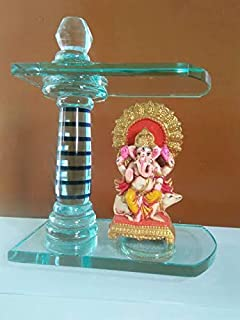 Seven Horses Glass Temple/Home Temple/Pooja Mandir/Pooja Mandap/Temple for Home/Handcrafted Home Decorative Itemization Gi...