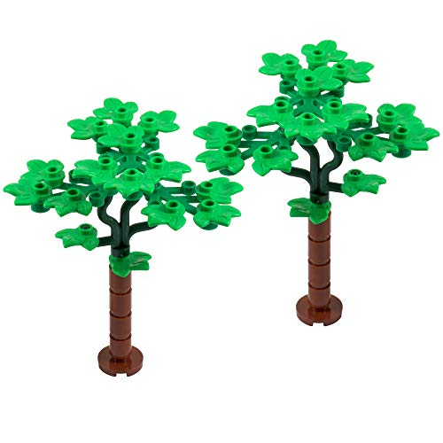 One More Brick Árboles Foliosos - Pack de dos | Real Iego parts
