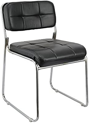 Da URBAN Office Fixed Visitor Chair Arm Less ISO and BIFMA Certified (Black)
