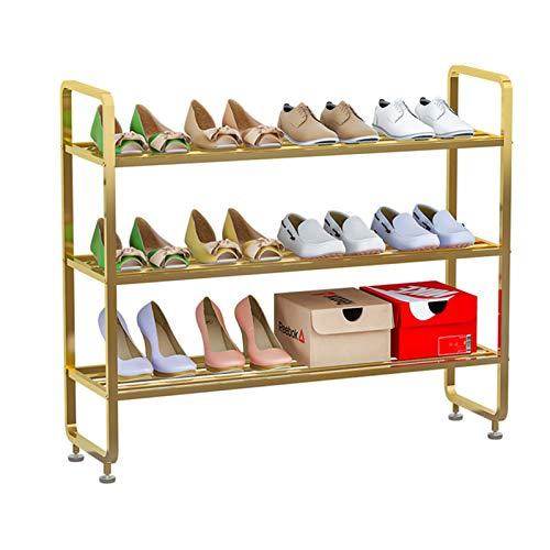MICEROSHE Zapatero Conveniente Bolsa de Almacenamiento de Zapatos de 3 Capas Entrada Zapatillas de Calzado Rack de Zapatos de Metal fáciles de ensamblar Regalos para el Hogar