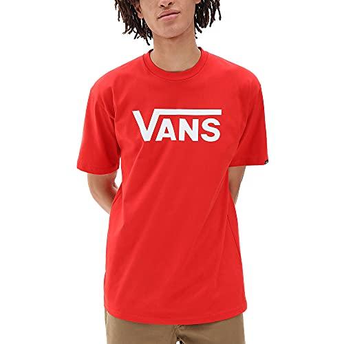 Vans Classic T-Shirt, Rosso e Bianco ad Alto Rischio, M Uomo