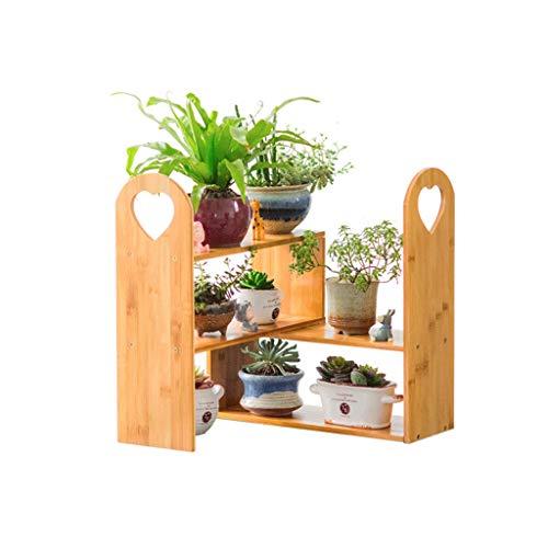 TONG Intérieur Jardinière en Bois Massif Multicouche Jardinière Balcon Salon Succulent Pot de Fleurs Jardinière Stand personnalité (Color : Wood Color)