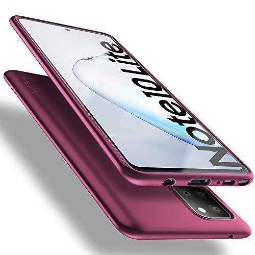X-level Samsung Galaxy Note 10 Lite Hülle, [Guardian Serie] Soft Flex TPU Hülle Superdünn Handyhülle Silikon Bumper Cover Schutz Tasche Schale Schutzhülle für Samsung Note 10 Lite - Weinrot