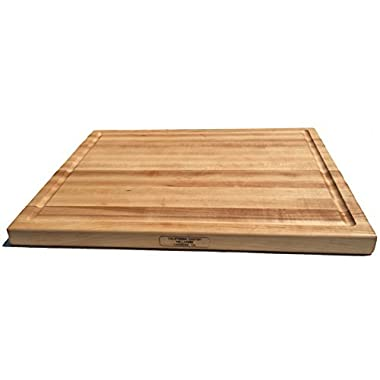 Large Wooden Cutting Board - Reversible Maple Wood Butcher Block With Juice Groove Made in the USA by California Custom Millwork (20x15x1.25)