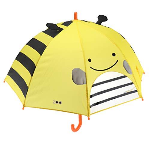 IPOTCH Jungen Mädchen Regenschirm Auf-Zu-Automatik Umbrella - Biene