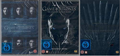 Game of Thrones Staffel 6-8 (6+7+8, 6 bis 8) [DVD Set] [EU Import mit Deutscher Sprache]