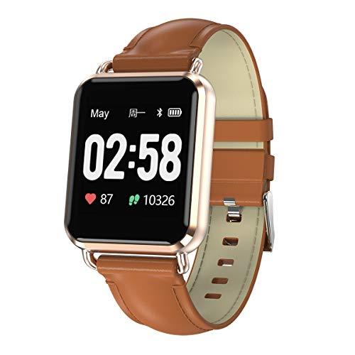 JIANGJIE Smart Sports Watch ECG + PPG Armband HRV Report mit Herzfrequenzschlafblutdruck-Monitor, Alarm-Reminder, Gesundheitsbericht, Sedentary Reminder,A