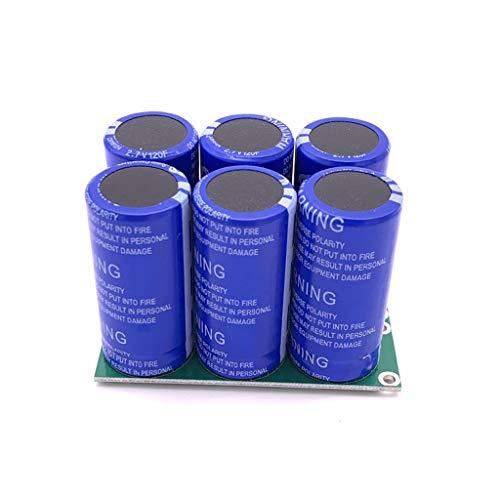 6 Stück/Set 2,7 V 120 F Super Farad Kondensator zweireihig mit Schutzplatine 16 V 20 F Hochfrequenz Niedrig ESR Ultracapacitor Module Generator Netzteil Batterie Starter Booster Motor Filter