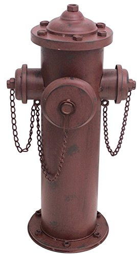 MayRich 23' x 8' Distressed Decorative Metal Fire Hydrant Statue