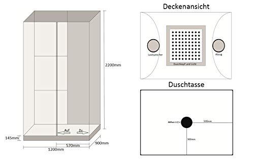 Home Deluxe White Luxory XL Duschtempel, inkl. Dampfsauna und komplettem Zubehör - 7