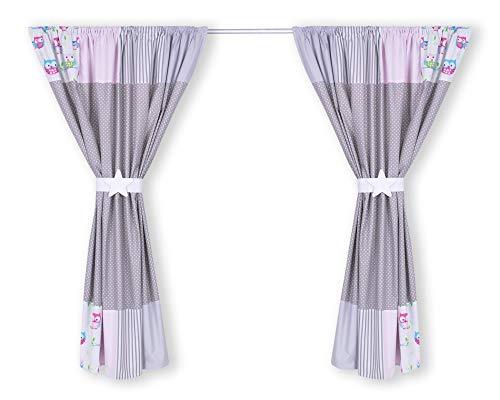 Amilian® Kinderzimmer Vorhänge 155 x 155 cm Set mit Schlaufen Baby Gardinen Vorhang V23